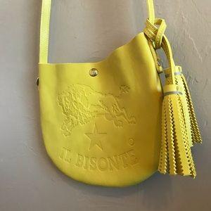 "Il Bisonte Italian leather crossbody ""pitti"" bag"